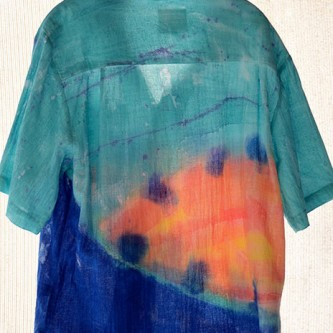 Aqua Coco Men's Tropical Cotton Shirt