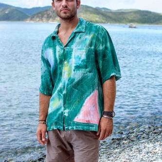 Bamboo Men's Tropical Cotton Shirt