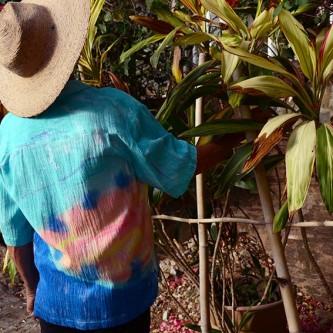 Sloop in Aqua Coco Men's Tropical Cotton Shirt