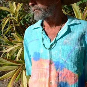 Sloop in Aqua Coco — Tropical Men's Cotton