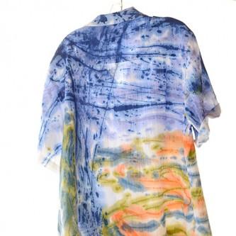 Sloop Jones Camp Shirt in Pennsyltucky Blu Color Collection