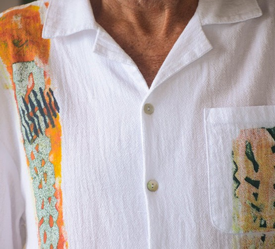 Guayabera Shirt in Gold Collection