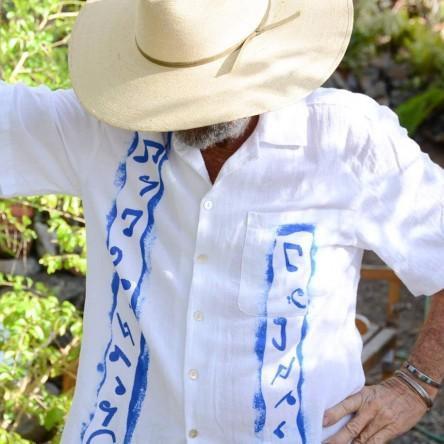 Sloop Jones in Blue Note Guayabera Shirt