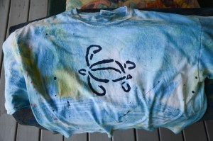 turtle front, sloop logo back.  colorway  splash