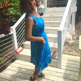 Dancing Dress SIde Blue Wash