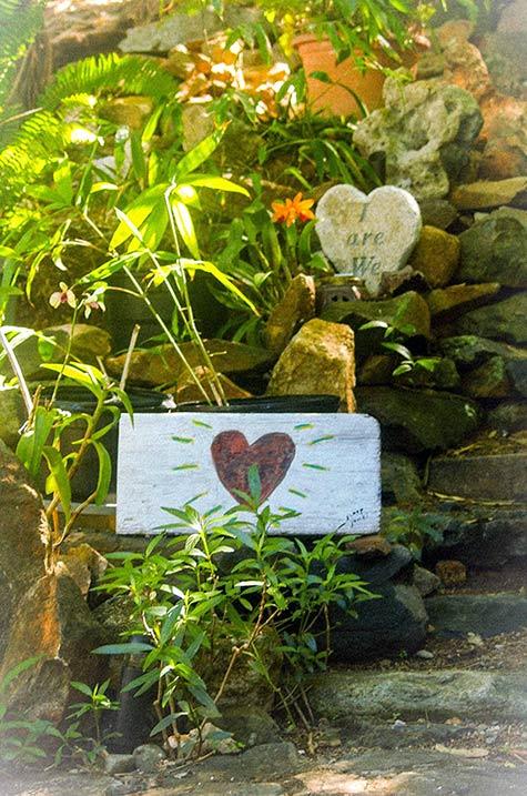 Garden Hearts at Sloop Jones Studio on the East End of St. John