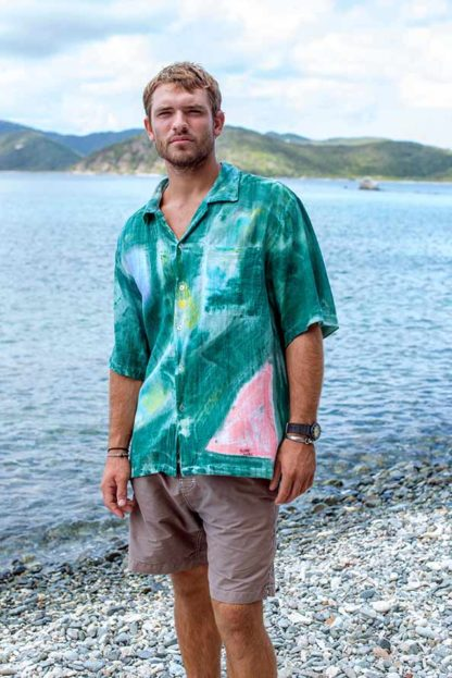 Bamboo Men's Tropical Cotton Shirt