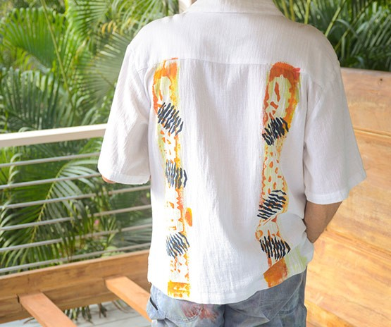 Guayabera Shirt in Gold