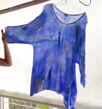 bubble cotton tunic top
