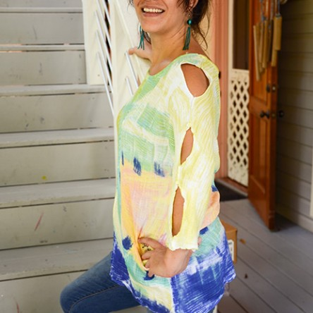 Bubble Cotton Tunic Top