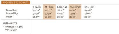 Rashguard Size Chart
