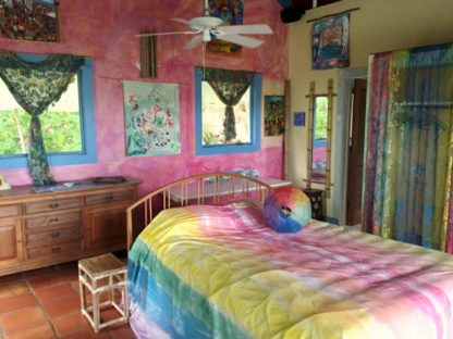 Stay in the Rainbow Room at the Sloop Jones Studio on St. John