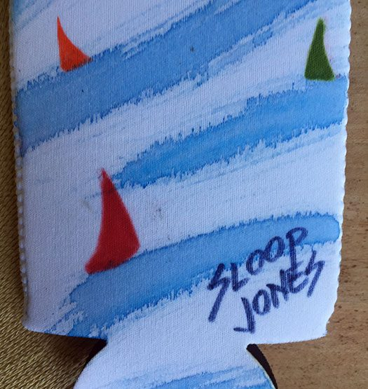 Sloop Jones Coozie in Sailing Collection, back
