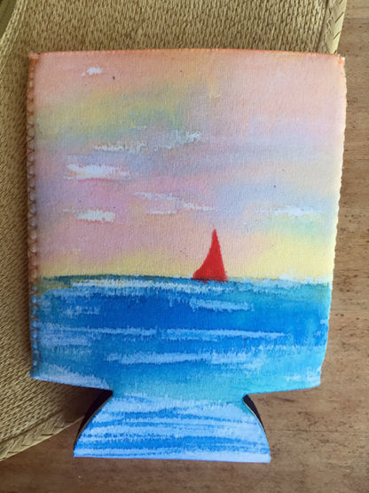 Sloop Jones Coozie in Red Sails Collection, front